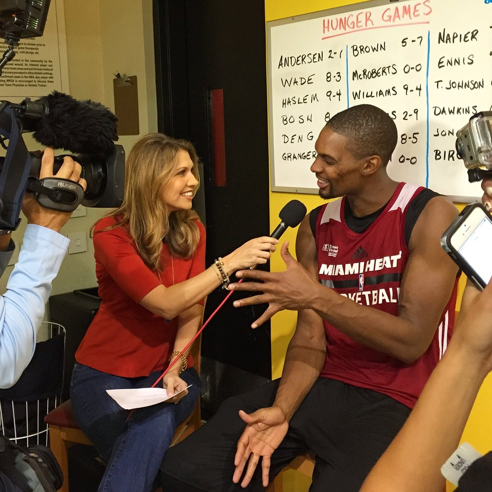 Kristen Hewitt and Chris Bosh