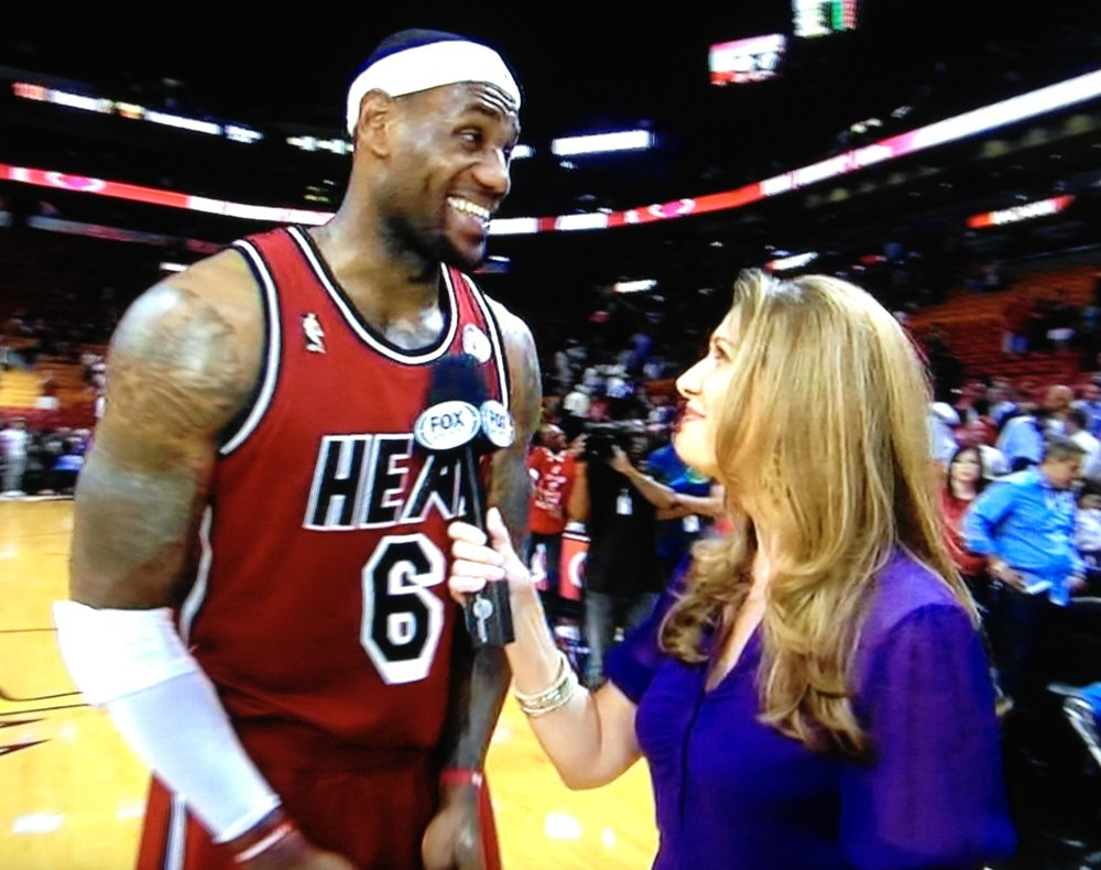 Kristen Hewitt and Lebron James