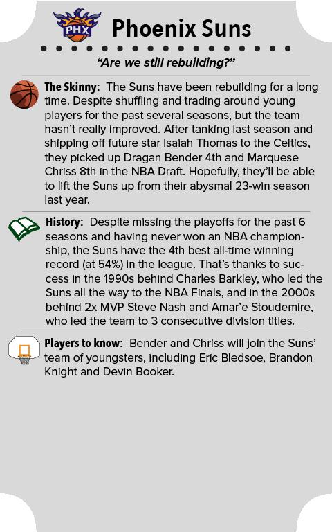 Phoenix Suns Team Primer Summary