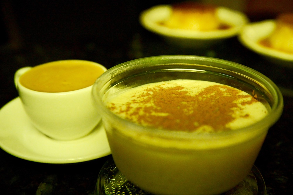 Home made Rice Pudding and Cafe Cubano