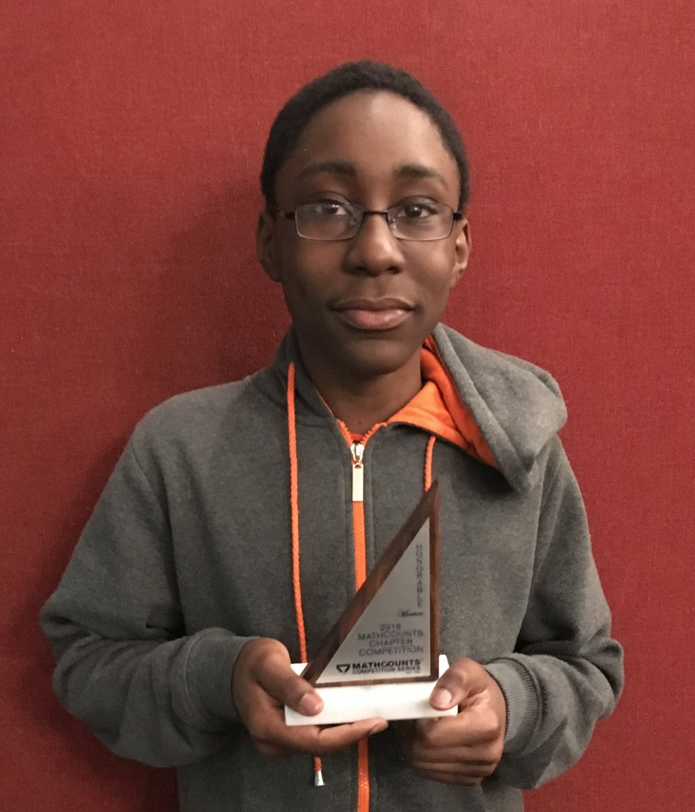 Kaya with his trophy, MATHOUNTS Bronx 2016