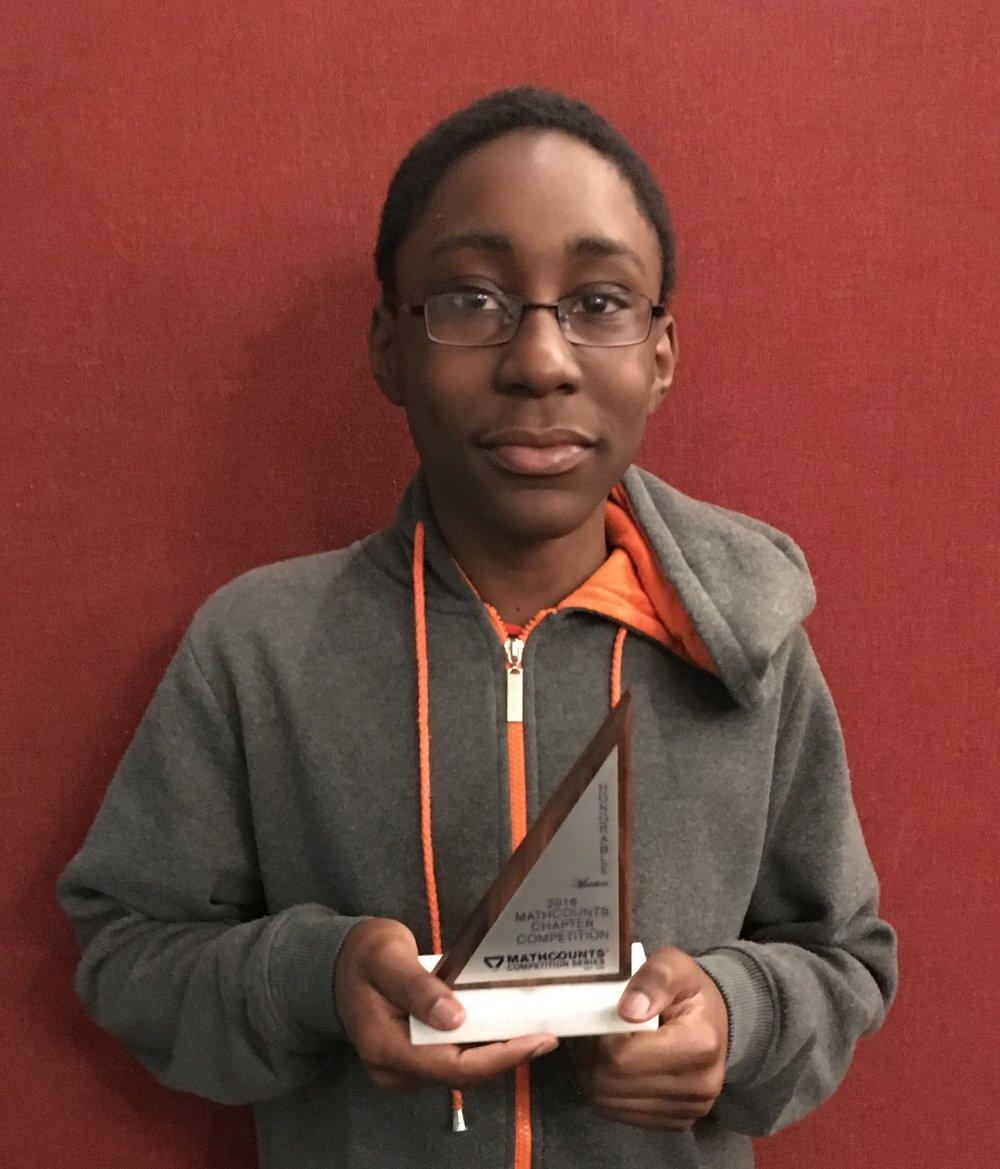 Kaya with his trophy, MATHOUNTS Bronx 2016