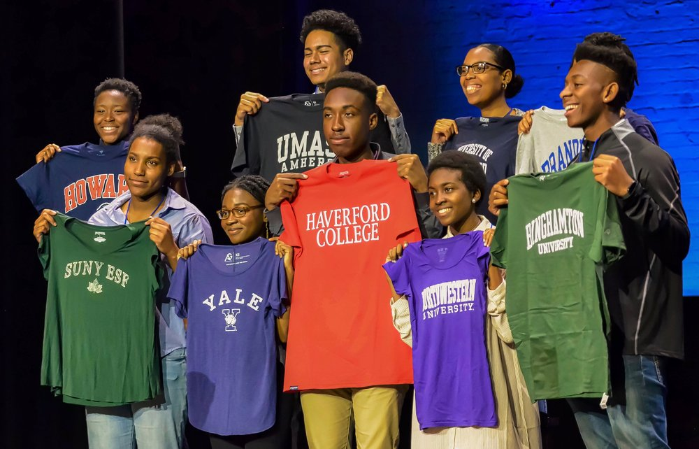 The BEAM group at the Apollo Theater for College Decision Day