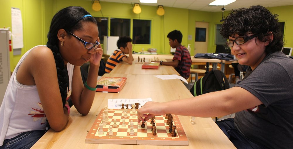Tanasia plays chess with Jack, BEAM 6 (2016)