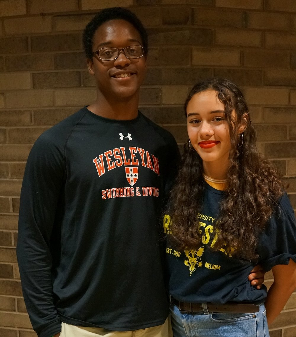 Joel attends Wesleyan where he plans to declare a double major in biology and psychology before going on to med school. Angelina attends the University of Rochester where she plans to major in math.