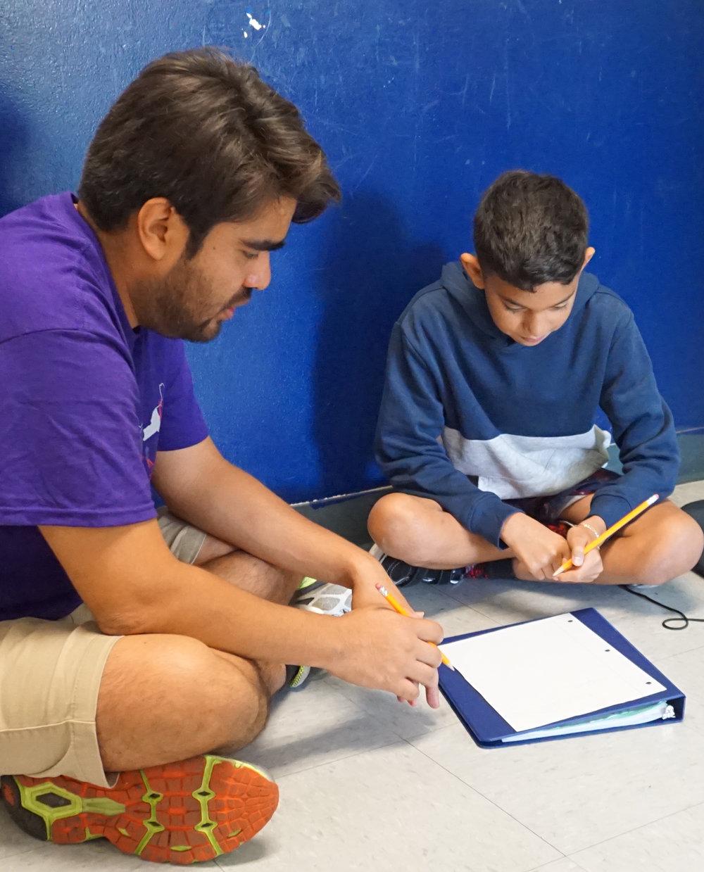 Javier with student LA 2018