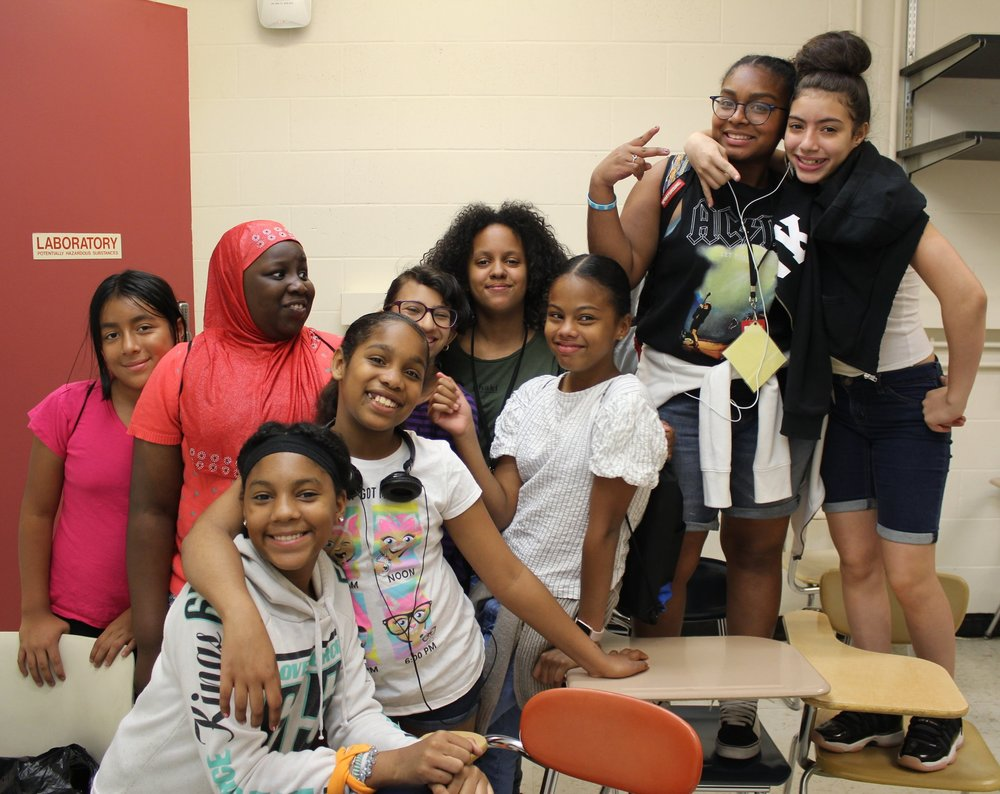 BEAM Discovery students pose for the camera at City College, summer 2018.