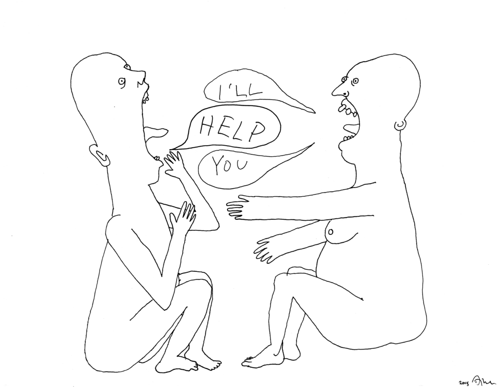 I'll Help You (2015), pen and ink
