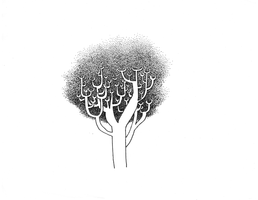Tree (2014), pen and ink
