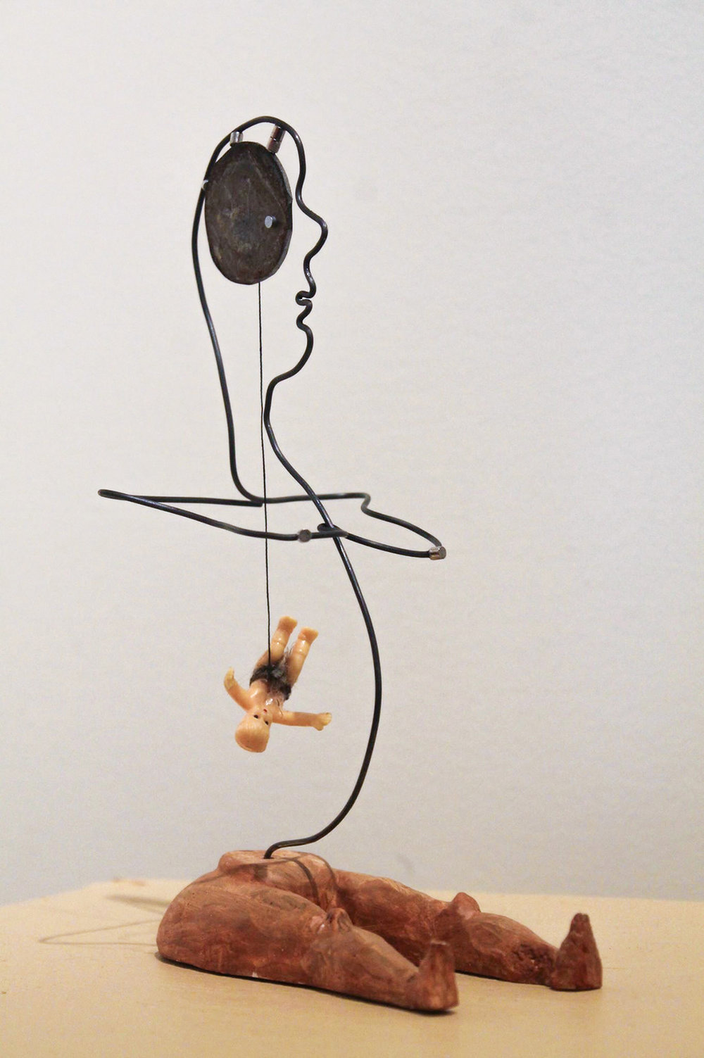 I'm Keeping My Baby, 2015, plaster, steel, mixed media