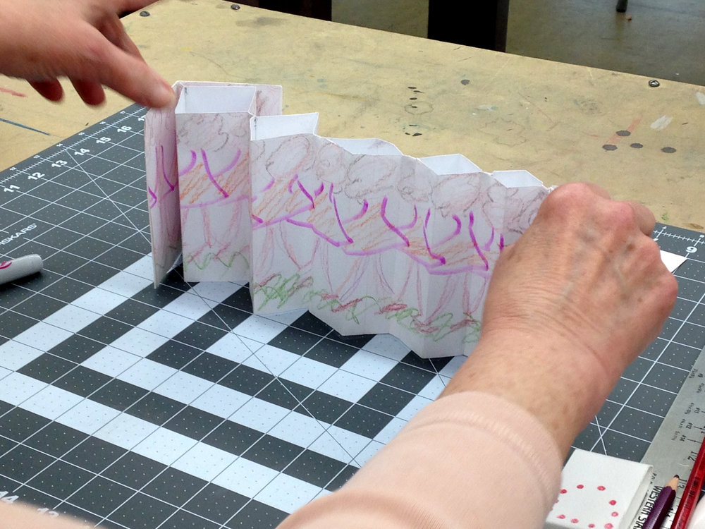 Marilyn's Fishbone Fold,  Spring 2016 student,    Continuing Ed