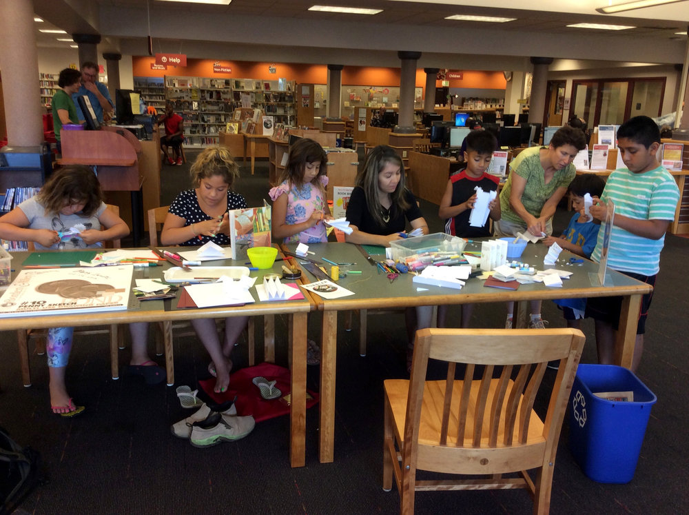 Bookmaking workshop, Hawthorne Library