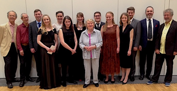 With other finalists and judges in the 2017 Dame Patricia Routledge English Song Competition