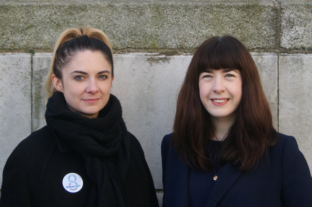 Photographer Rachel McIntyre with Paula, Dublin, February 2016.