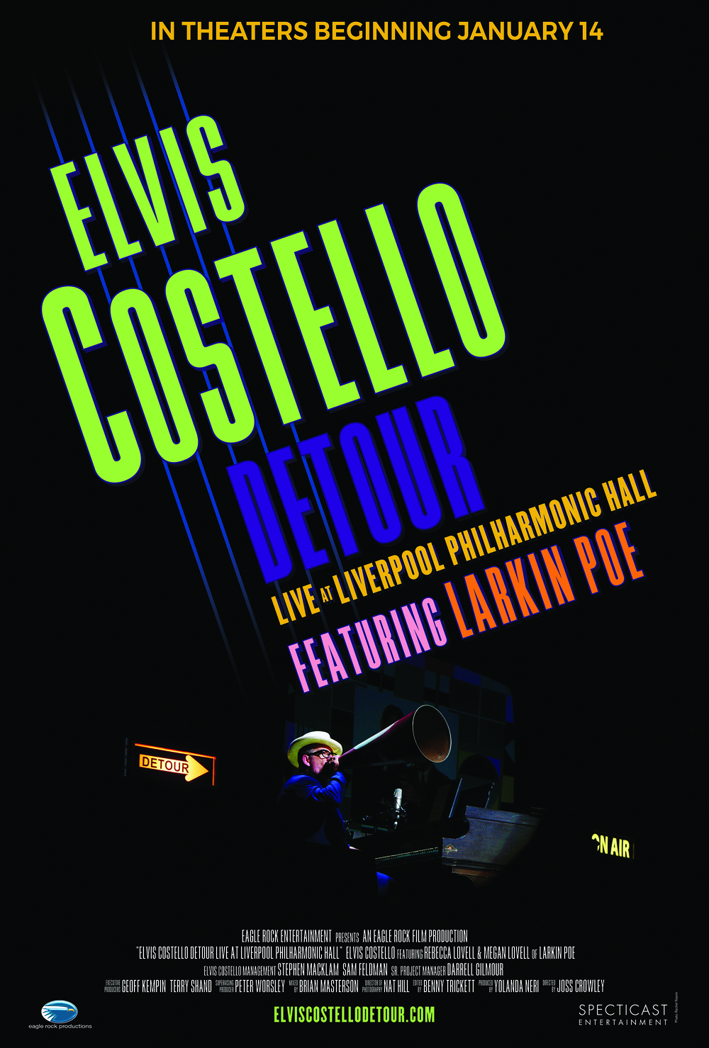 Theatrical Poster/Cover for Elvis Costello Detour: Live at Liverpool Philharmonic Hall