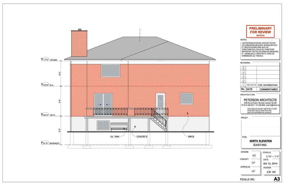 Existing Rear Elevation
