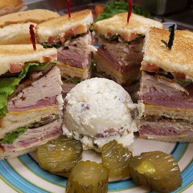 "Join the ""club"" at Pinegrove! This is one of our most popular items and it's on our Secret Menu! Stop in anytime and ask for one for lunch or dinner! 🥪👌🏻"