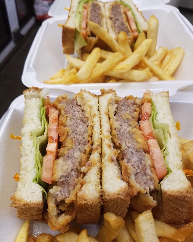 "One benefit to following us on social is getting to find out about our Secret Menu items like our Country Fried Steak Sandwich! It's served on grilled Texas toast with lettuce, tomato, mayo and gravy on side! As our family says in Arabic: ""Sahtein!"" Eat in good health! See you for lunch!"