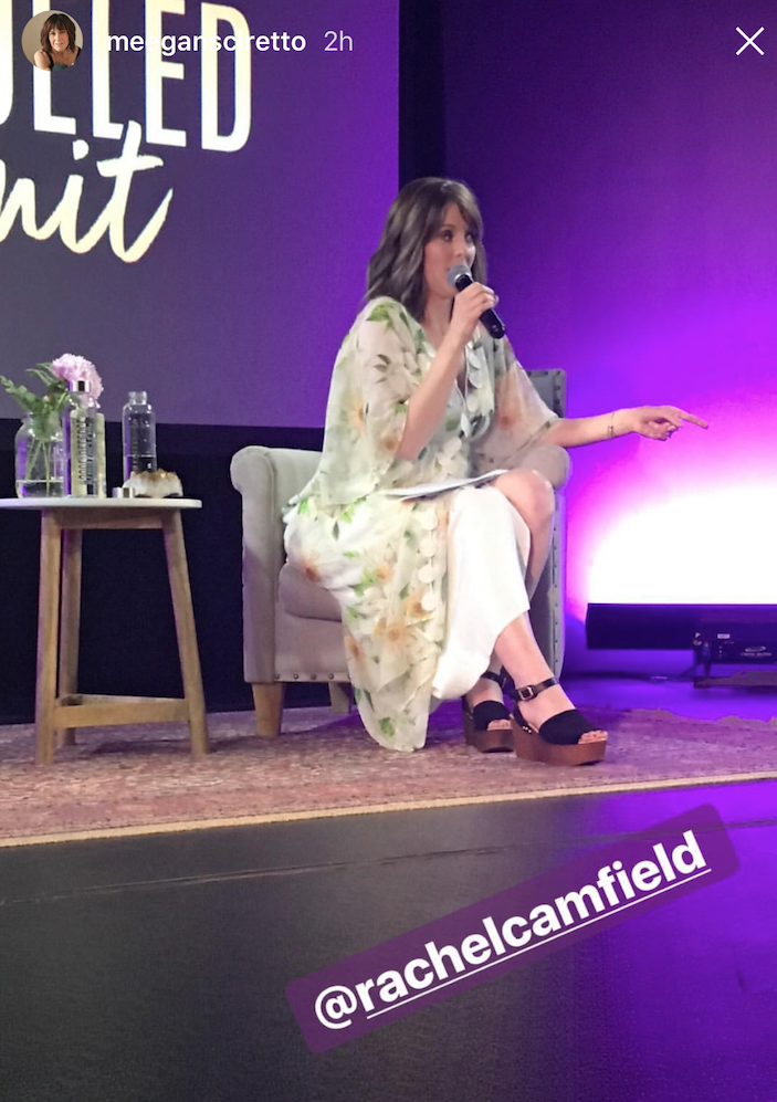 speaking to a sold-out audience - at Amber Lilyestrom's Soul Fueled Summit