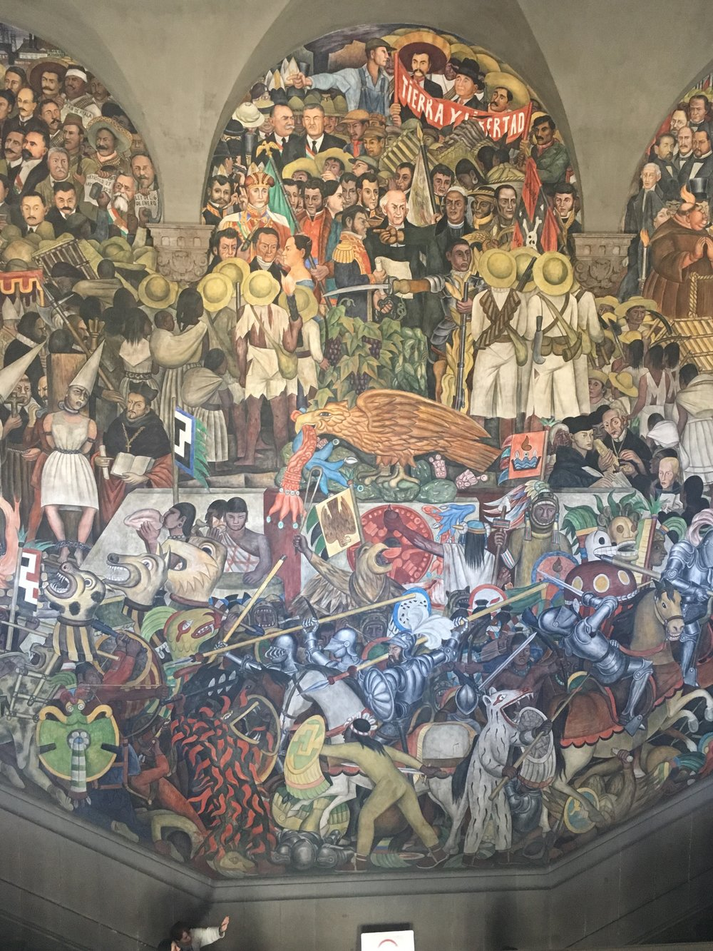 Diego Rivera mural at the National Palace in Mexico City.
