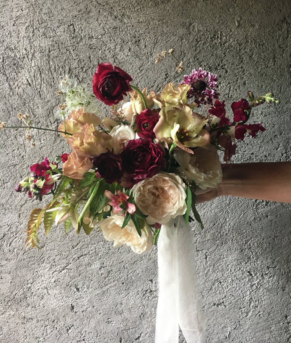 My wedding bouquet design from the workshop.