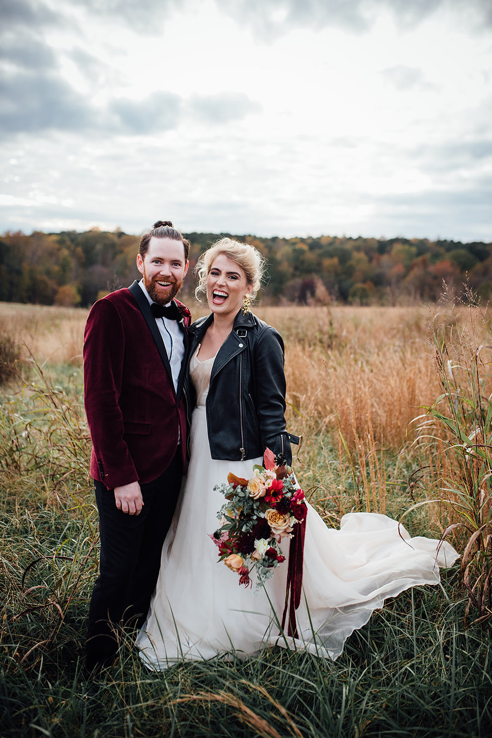 Fall Wedding, Color Fields, Burgundy and Blush bridal bouquet, The Meadows- Raleigh