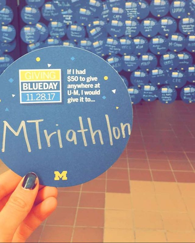 snapchat from triathlete @alondralondra IT'S GIVING BLUE DAY!! Link in bio!! #GivingBlueday