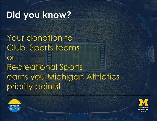 It's Giving Blueday!! The triathlon team's link is HERE: https://www.givingblueday.org/campaigns/michigan-club-triathlon-team (link also in bio)