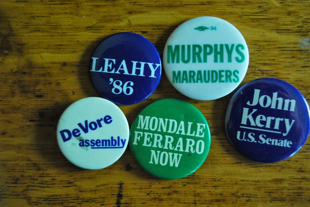 Remember when they handed out buttons?