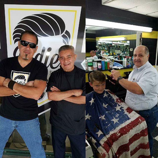 In honor of Veteran's Day, we want to give a salute to the veterans that are part of our barbershop family. Thank you for all you've done and for setting an example of the courage it takes to be great leaders! From the Eddie's Barbershop family to all veterans out there, a great and warm THANK YOU! #EddiesBarbershop #SaluteToVeterans
