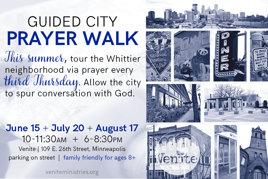 Minneapolis Guided City Prayer Walk near Retreat Center