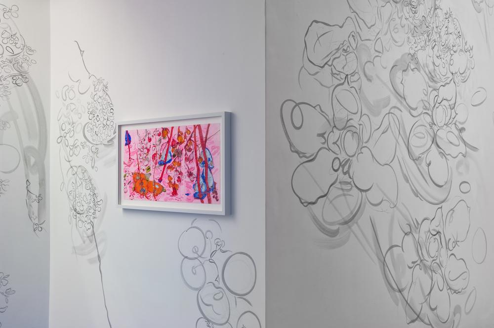 Expulsion from Paradise, 2009, acrylic on wall,23' x 43'