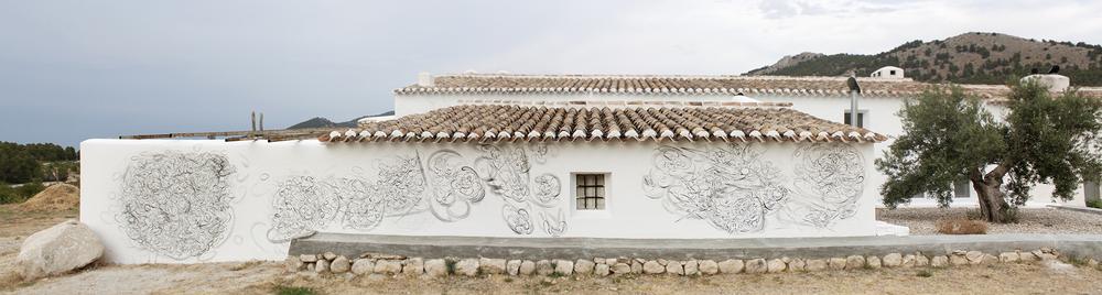 SUNBURST installation general view, 2013, Joya: arte + ecología, Cortijada Los Gázquez, Vélez Blanco (Almería), Spain