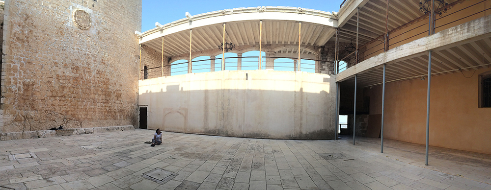 Panoramic view of the Patio.