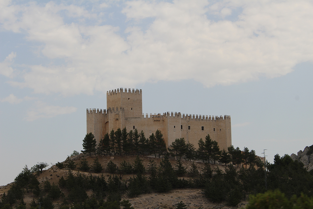 Castillo de Vélez Blanco. The castle of Don Pedro Fajardo y Chacón stands above the town.