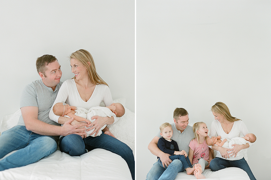 Newborn photographer, Seattle.  Twins on film, by Sandra Coan