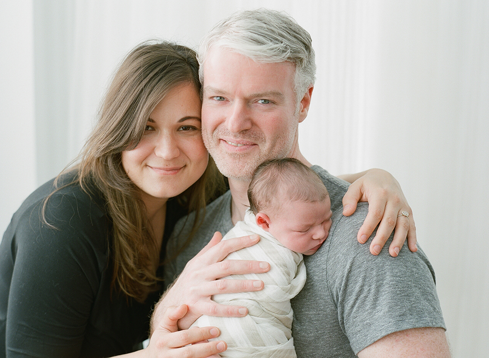 Sandra Coan, newborn photography shot on film, Seattle WA