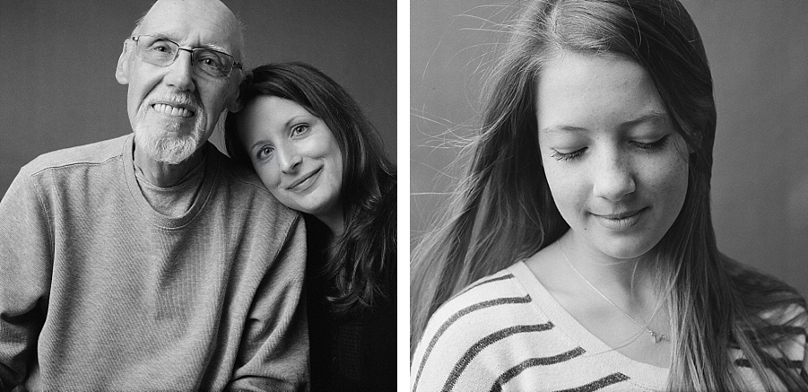 Seattle family photographer, Sandra Coan.  Studio Photography shot on film.