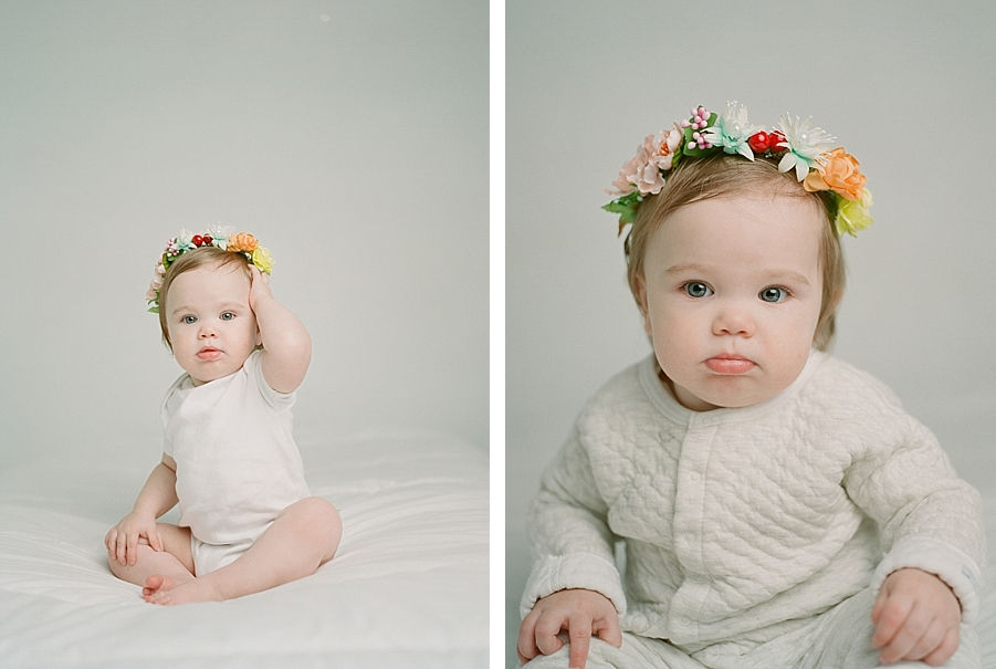 Newborn photographer Sandra Coan, Seattle studio portraits shot on film