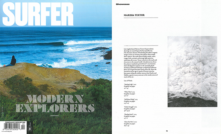 Surfer Magazine, Showcase Feature, February 2016 (8 page spread)