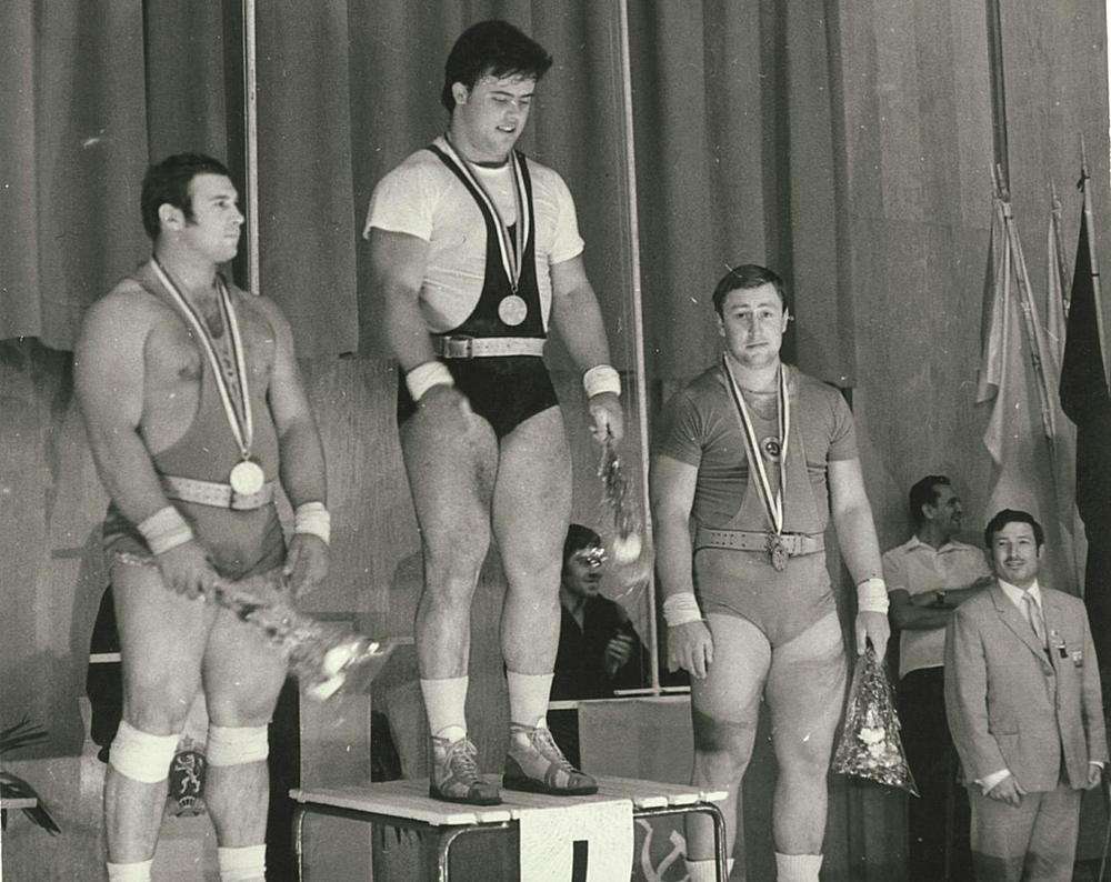 Alex Krychev accepting the Gold Medal in the 1971 European championships. He will be here at Amity CrossFit on January 16th to give a seminar about Weightlifting. Check out the details on the News and Events page.