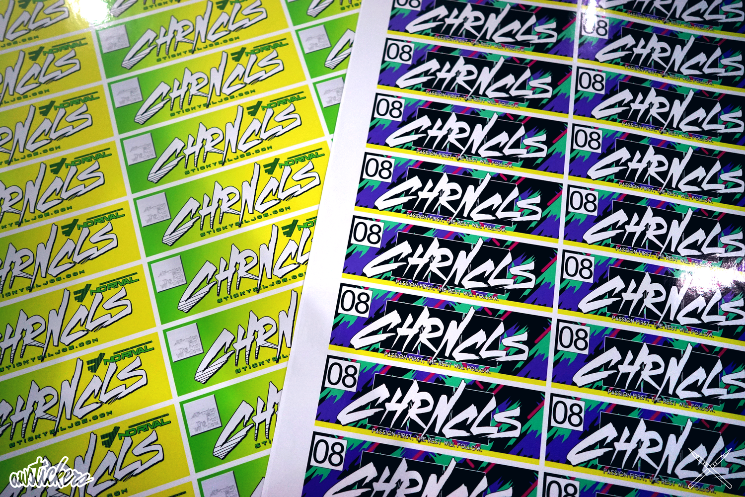 Printed stickers