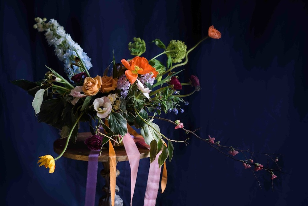 Bloomologie asymmetric bridal bouquet