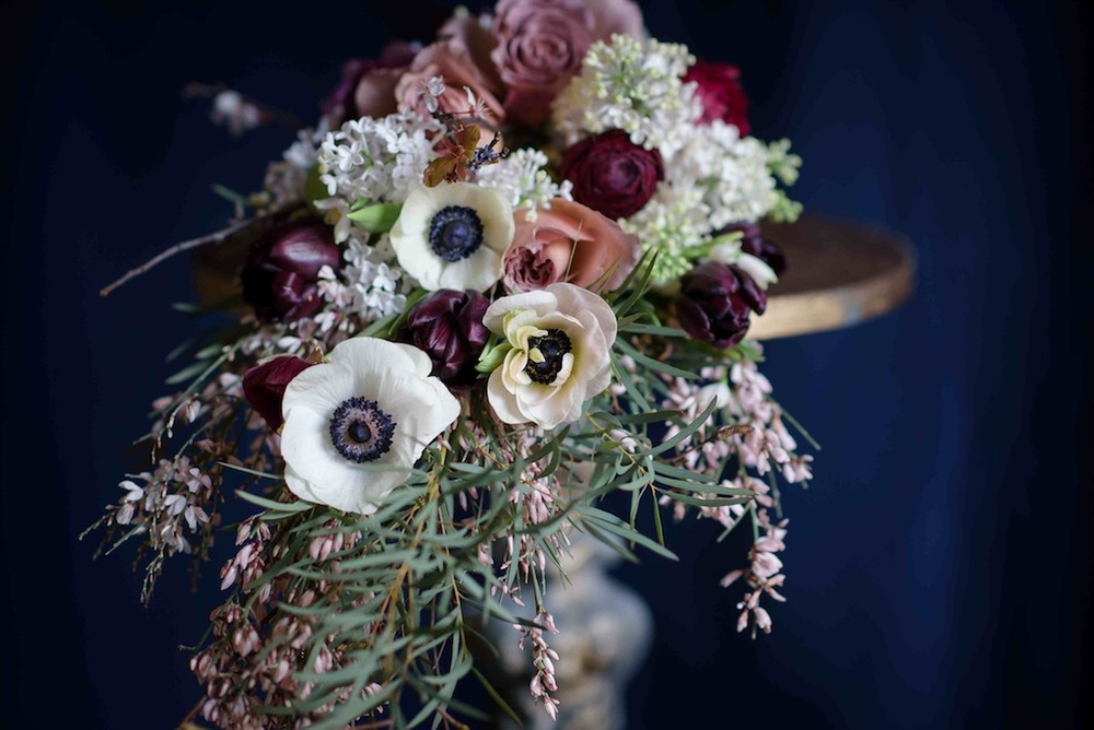 Bloomologie shower bridal bouquet