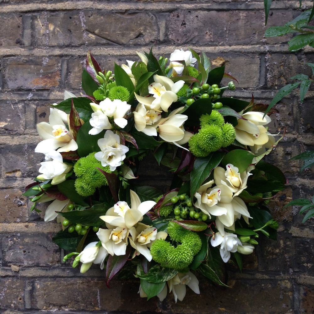 Funeral wreath Bloomolgie Florist London