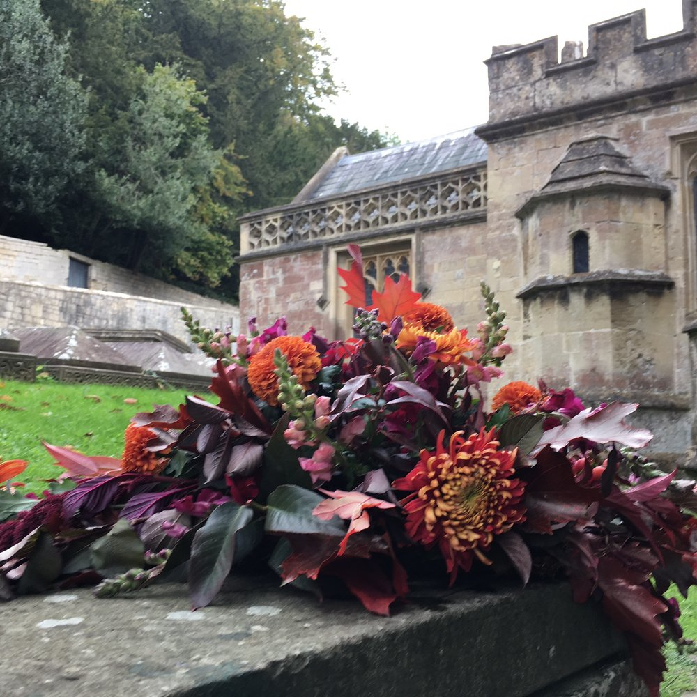 Autumn funeral flowers Bloomolgie Florist London