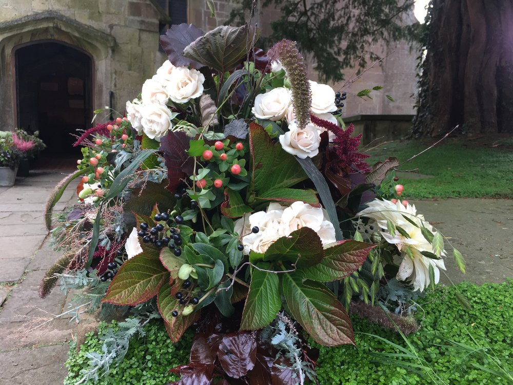 Single-ended coffin spray Bloomolgie Funeral Florist London