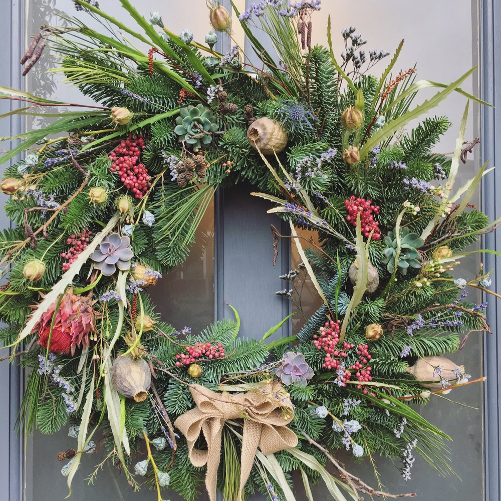 Bloomologie garden christmas wreath