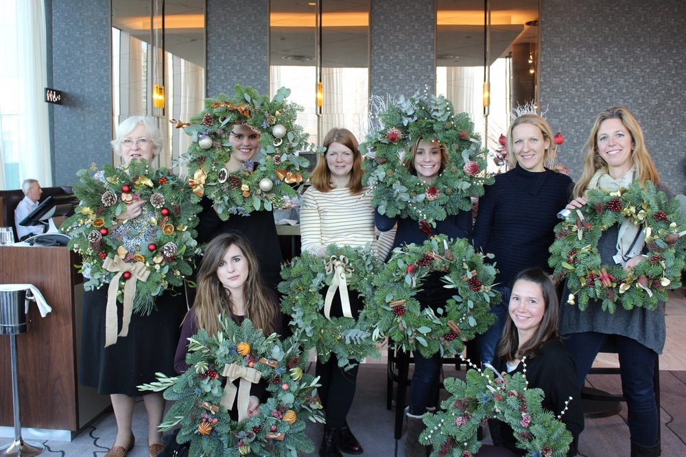 Bloomologie O2 wreath workshop