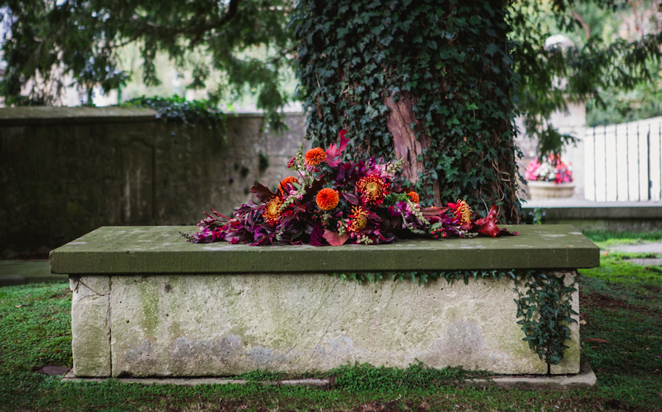 natural funeral flowers orange bloomologie